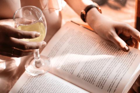 glass-wine-book